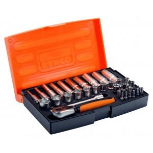 "Bahco Socket Set 37-Piece1 1/4"" Square Drive Socket & Deep Socket"