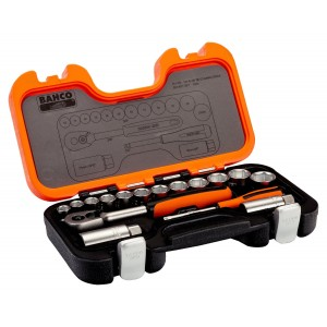 "Bahco Socket Set 34-Piece 1/4"" & 3/8"" Square Drive"
