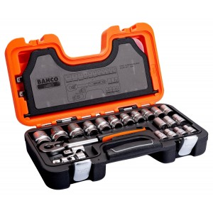 "Bahco Socket Set 24-Piece 1/2"" Square Drive"