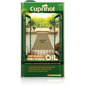 Cuprinol UV Guard Decking Oil Natural Oak 5 Litre