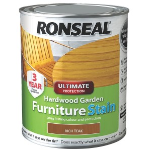 Ronseal Hardwood Garden Furniture Stain 750ml