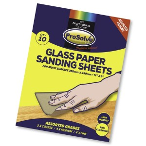 "Prosolve Glass Paper Sanding Sheets 11"" x 9"""