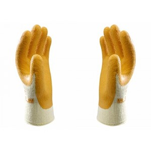 Showa Polyester Cotton Gloves Latex Coated Palm