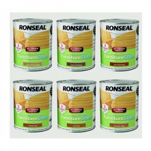 Ronseal Hardwood Garden Furniture Stain 750ml Deep Mahogany