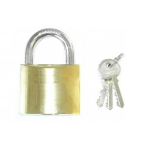 Perry Tri-Circle Brass Padlock Keyed Alike 25mm