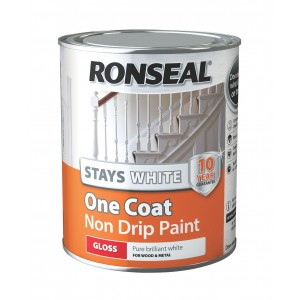 Ronseal Stays White One Coat Non Drip Paint White