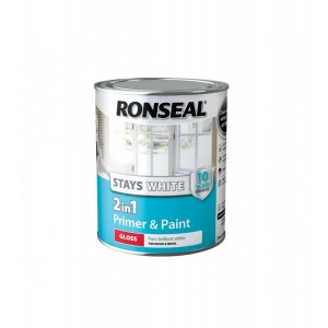 Ronseal Stays White 2in1 Paint Pure Brilliant White