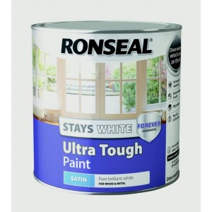 Ronseal Stays White Ultra Tough Paint White