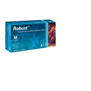 Aurelia Robust Blue Disposable Glove Pack 100