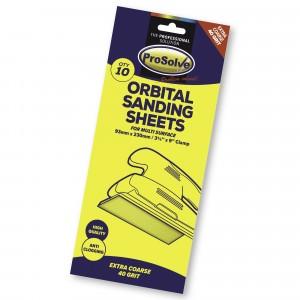 Prosolve Orbital Sanding Sheets 93 x 230mm Clamp Pk.10