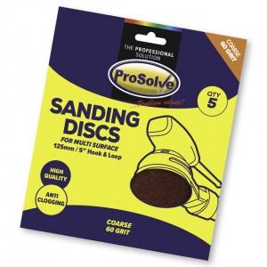"""Prosolve Sanding Discs Hook & Loop 5"""""""