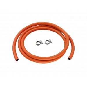 Calor 8mm Low Pressure Hose & 2 Jubilee Clips